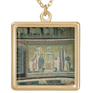 Presentation in the Temple, detail from the Story Gold Plated Necklace