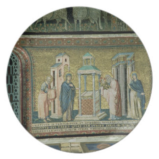 Presentation in the Temple, detail from the Story Plate