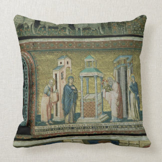 Presentation in the Temple, detail from the Story Throw Pillow