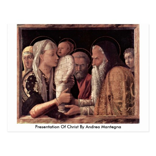Presentation Of Christ By Andrea Mantegna Postcard