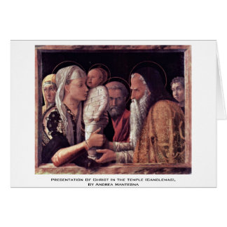 Presentation Of Christ In The Temple (Candlemas), Card