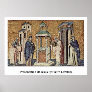 Presentation Of Jesus By Pietro Cavallini Poster