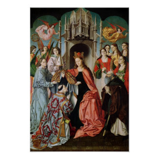 Presentation of the Chasuble to St. Ildefonso Poster