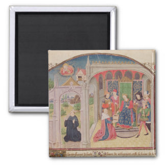 Presentation of The Ethics to the King 2 Inch Square Magnet