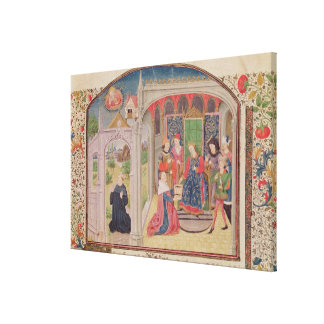 Presentation of The Ethics to the King Canvas Print
