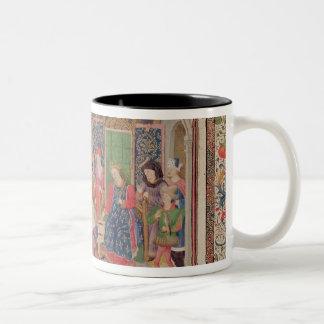 Presentation of The Ethics to the King Two-Tone Coffee Mug