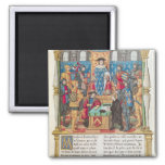 Presentation of the Memoirs to Louis XI 2 Inch Square Magnet