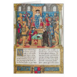 Presentation of the Memoirs to Louis XI Card