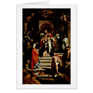 Presentation Of The Virgin By Federico Barocci Greeting Card