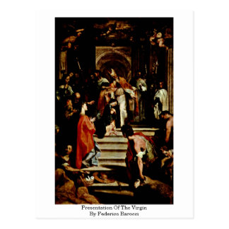 Presentation Of The Virgin By Federico Barocci Postcard