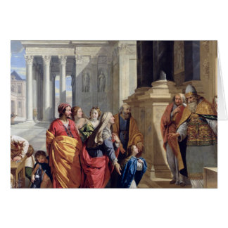 Presentation of the Virgin in the Temple Greeting Card