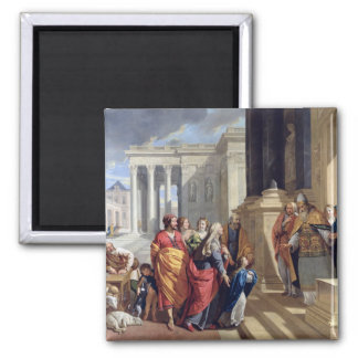 Presentation of the Virgin in the Temple 2 Inch Square Magnet