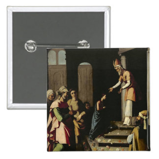 Presentation of the Virgin in the Temple Pinback Button