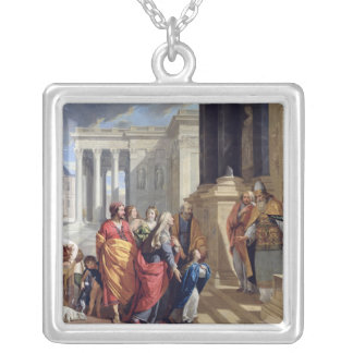 Presentation of the Virgin in the Temple Silver Plated Necklace