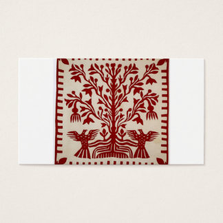 Presentation quilt from Oahu, c. 1855-1887 Business Card