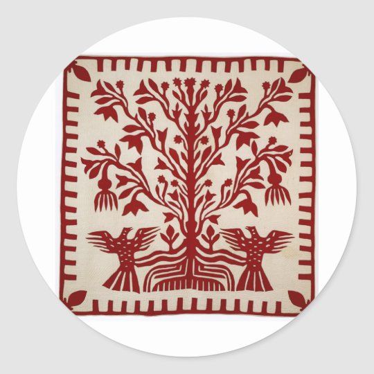 Presentation quilt from Oahu, c. 1855-1887 Classic Round Sticker