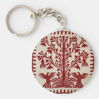 Presentation quilt from Oahu, c. 1855-1887 Basic Round Button Keychain