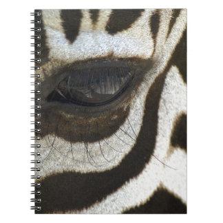 Presente blanco y negro del regalo del safari del  libros de apuntes con espiral