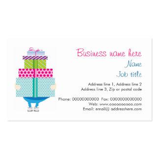 Presente de cumpleaños o efectos de escritorio de tarjetas de visita