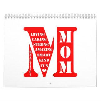 Presente del día de madre calendario
