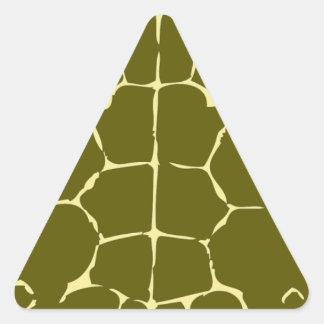 Presente del regalo del océano del mar de Shell de Pegatina Triangulo