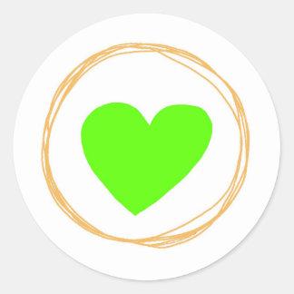 presente do dia dos namorados bonitos classic round sticker
