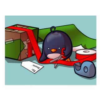 Presente-Embalaje de la postal del pingüino