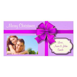 Presente envuelto tarjetas con fotos personalizadas