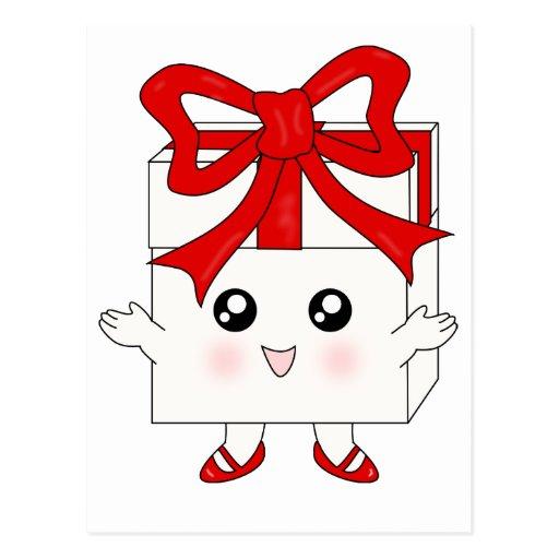 Presente feliz tarjeta postal