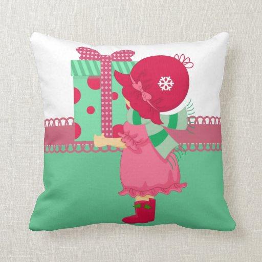 Presente femenino del navidad almohadas