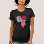 Presente femenino del navidad camiseta