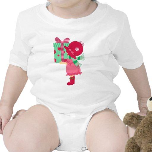 Presente femenino del navidad traje de bebé