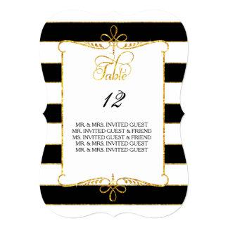 """Presente la escritura rayada oro de los nombres de invitación 5"""" x 7"""""""