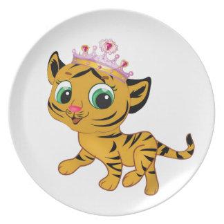 Presente lindo de princesa Tiger Tigress Tiara Plato
