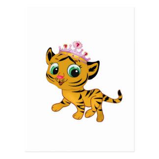 Presente lindo de princesa Tiger Tigress Tiara Postales