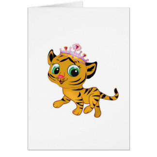 Presente lindo de princesa Tiger Tigress Tiara Tarjeta De Felicitación