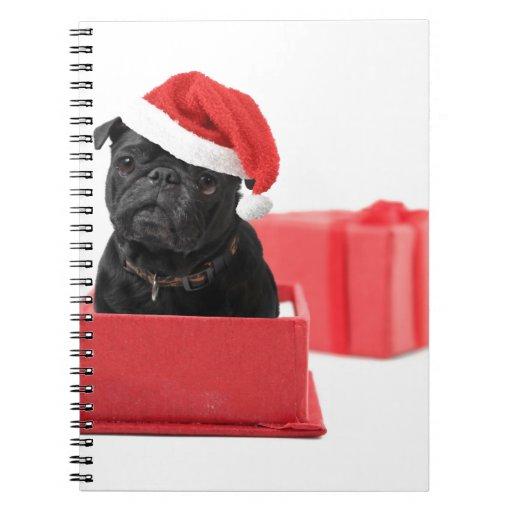Presente o regalo negro del perro del barro amasad libreta