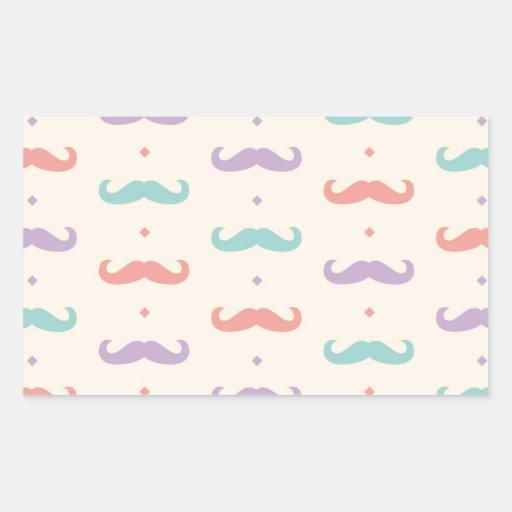 Presente popular en colores pastel fabuloso del rectangular pegatina