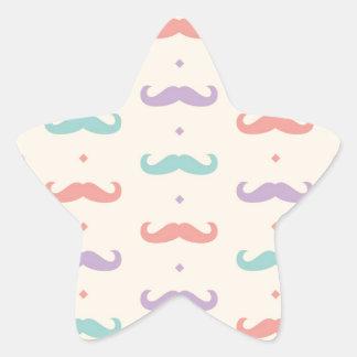 Presente popular en colores pastel fabuloso del calcomania forma de estrella personalizada