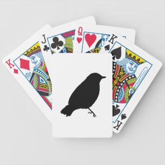 Presente único del regalo de la silueta negra del  baraja cartas de poker