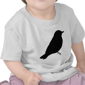 Presente único del regalo de la silueta negra del  camiseta