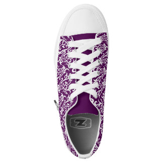 Presenter Shoe Purple Scrollwork Tribal Design Printed Shoes