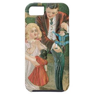 Presentes de la abertura de la familia en navidad iPhone 5 protector