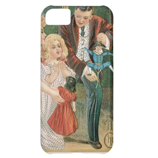 Presentes de la abertura de la familia en navidad funda para iPhone 5C