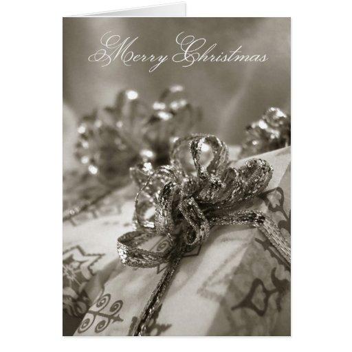 Presentes de la tarjeta de Navidad