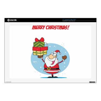 Presentes de la tenencia de Papá Noel de las Skins Para 43,2cm Portátil