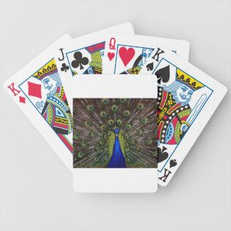 Presentes de los regalos del azul real del pavo re baraja cartas de poker