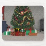 Presentes debajo del árbol de navidad: tapete de ratones