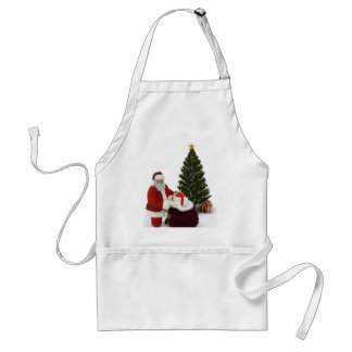 Presentes del ajuste de Santa por el árbol Delantales