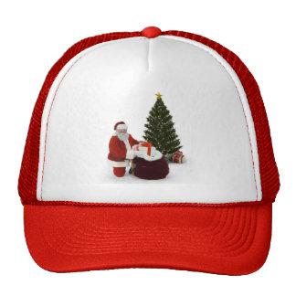 Presentes del ajuste de Santa por el árbol Gorros